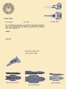Battlestar Galactica Invite