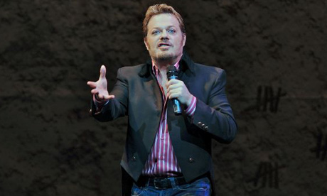Eddie Izzard on stage