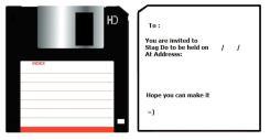 Floppy Disk Invite