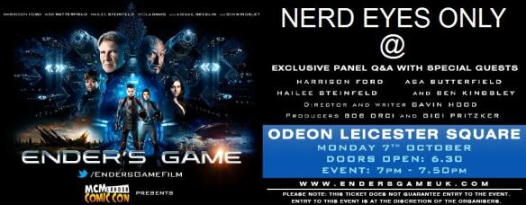 Nerd Eyes Only at Ender's Game Q&A