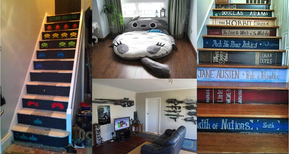 Left space invader staircase posted here middle top totoro bed