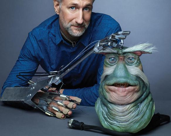 Brian Henson and Rigel puppet