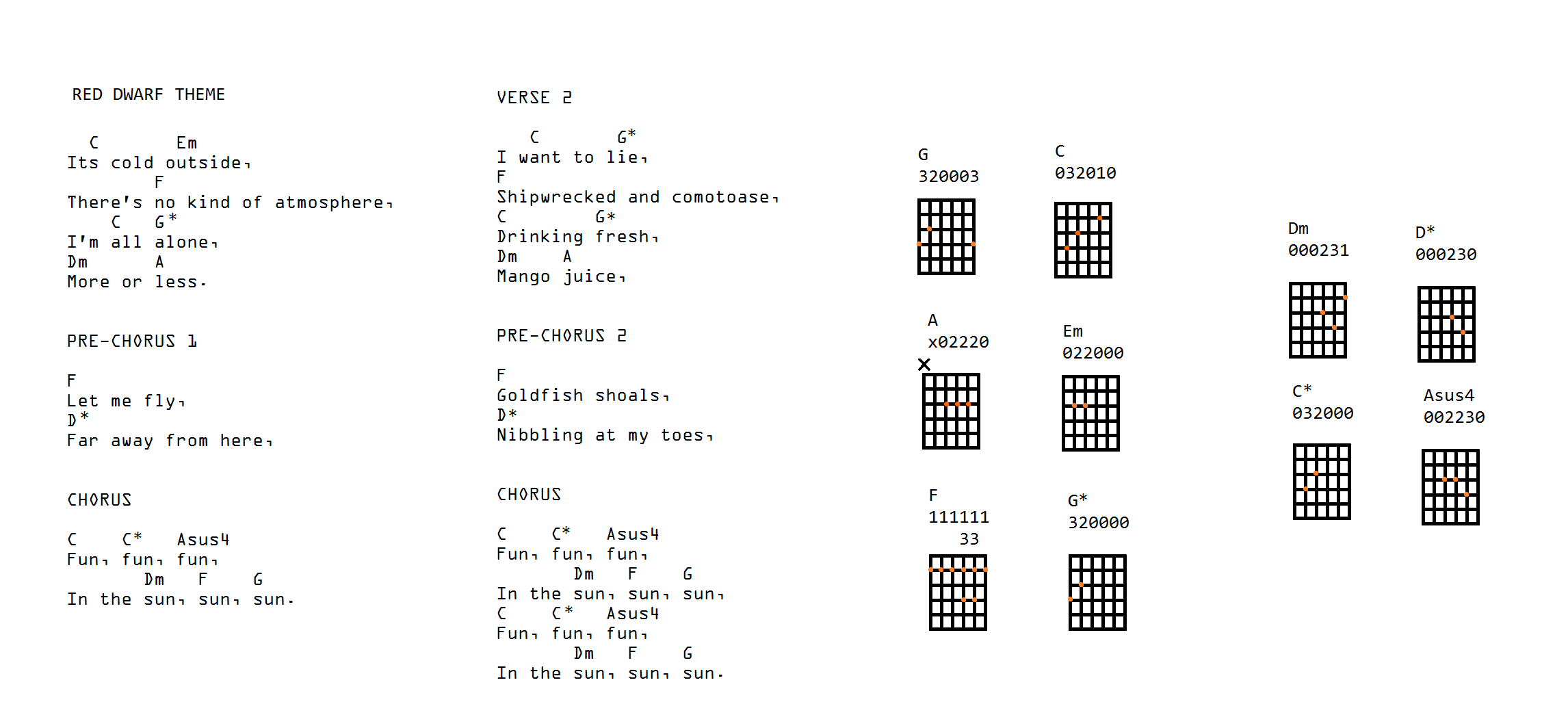 These Are The Chords Youre Looking For Nerd Eyes Only